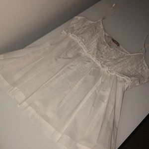 Cute flowy white tank top from forever21